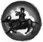 Riding the Ox drawing by Wm. Segal